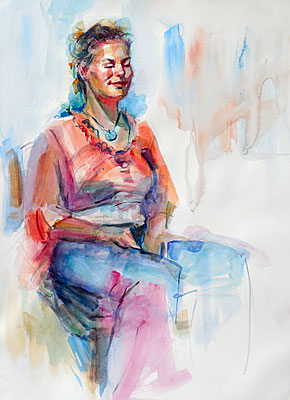 """That Way She Sits"" - Alexandra Eyer Fine Portraits."